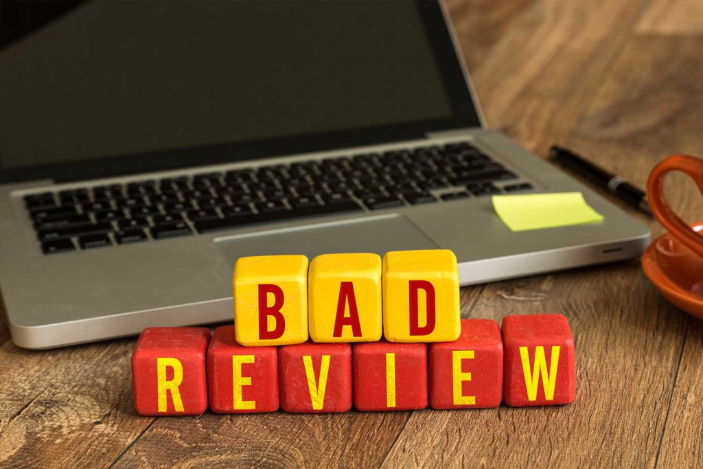 So You Got a Bad Review: Five Steps to Handle It