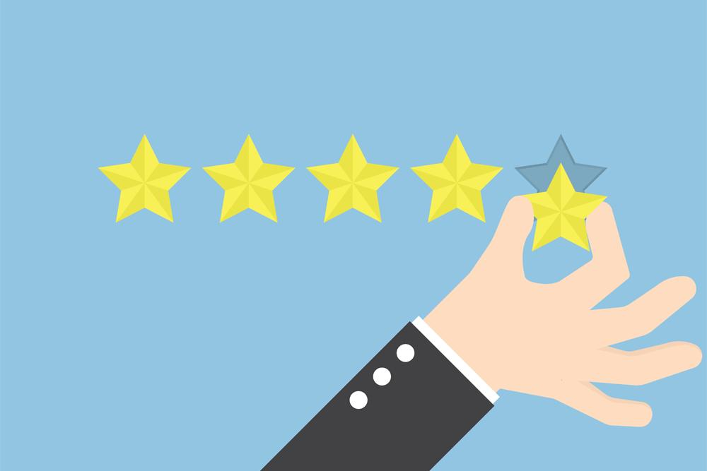 Amazon star rating level