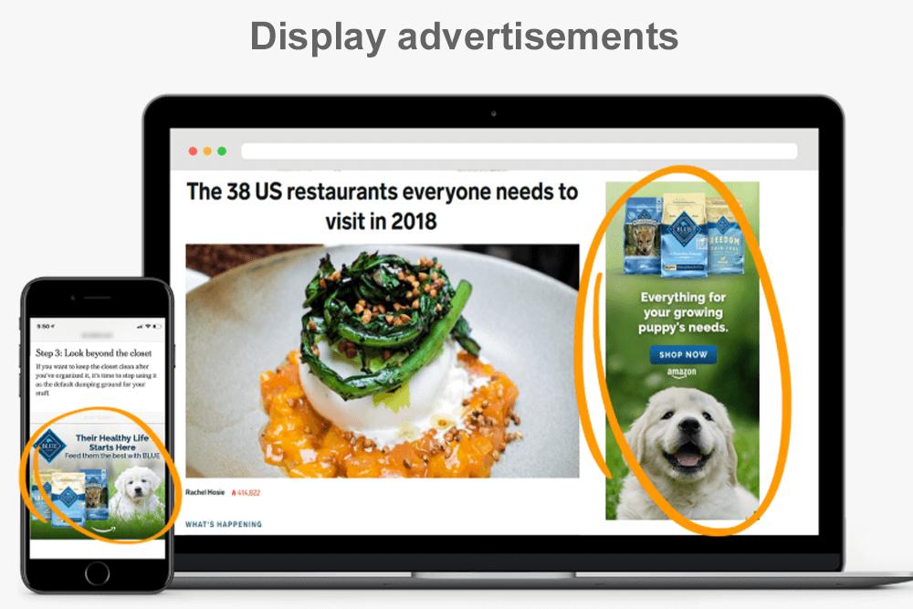 amazon Display advertisements