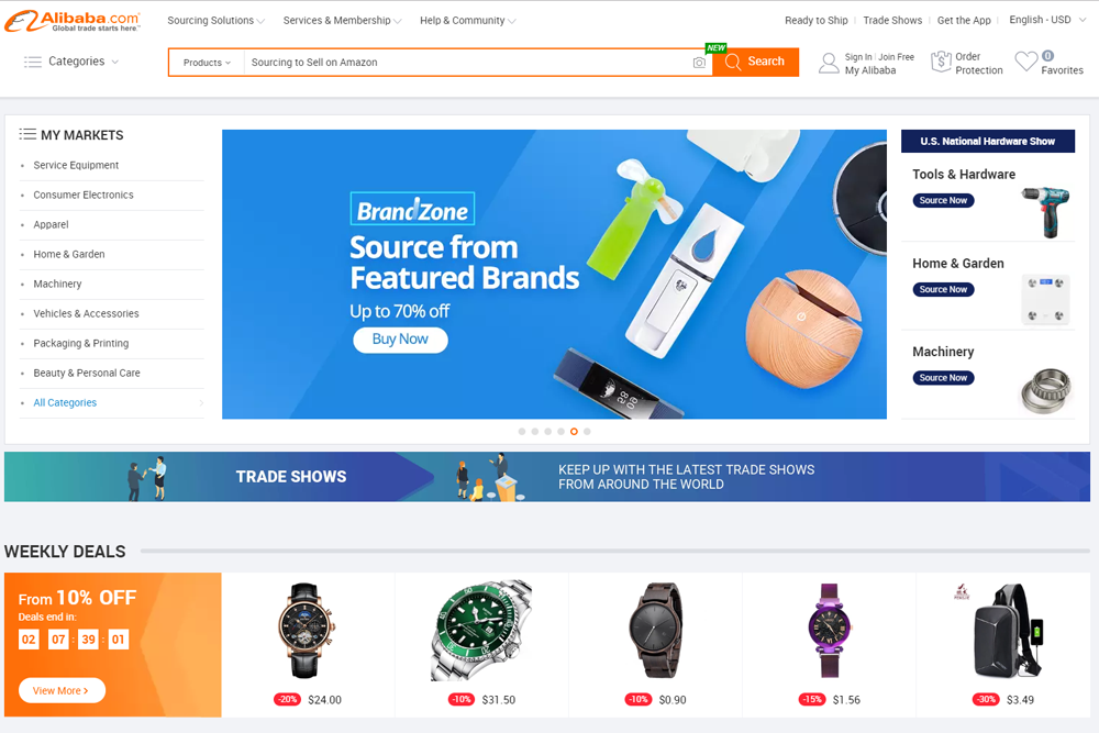 Sourcing Products on Alibaba to Sell on Amazon