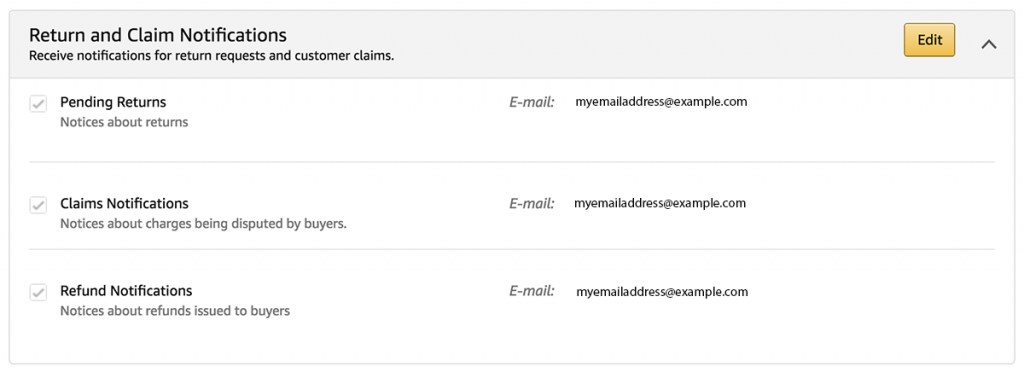 amazon return and claim notifications