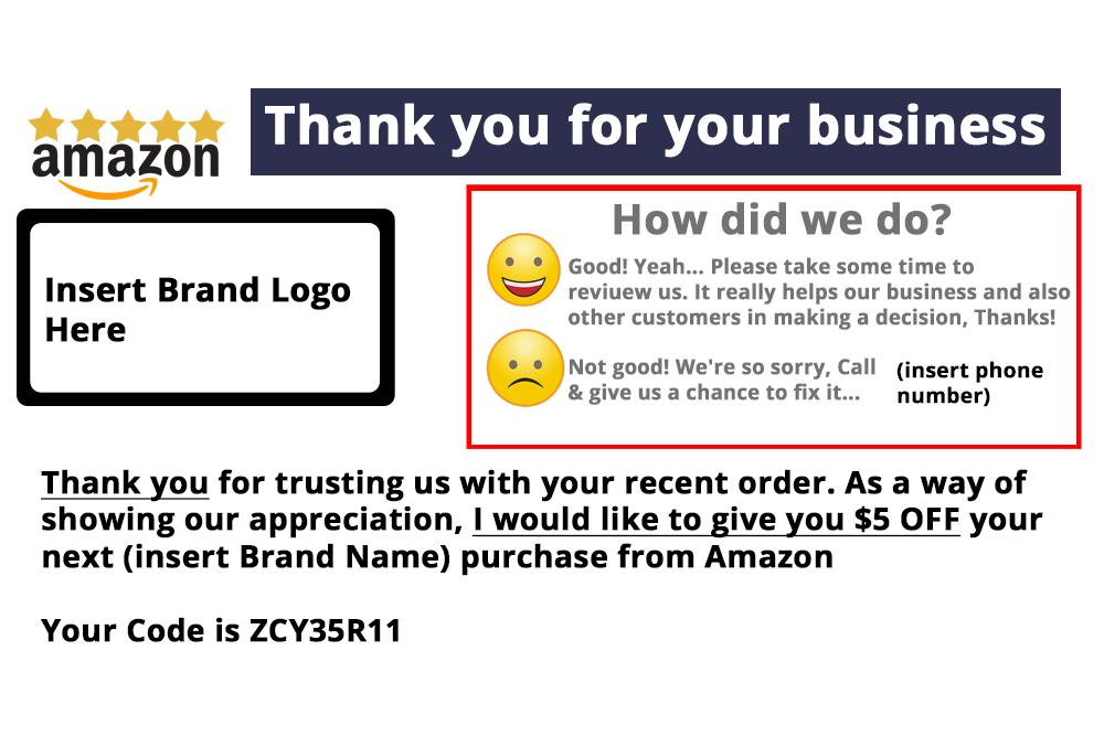 amazon product insert template
