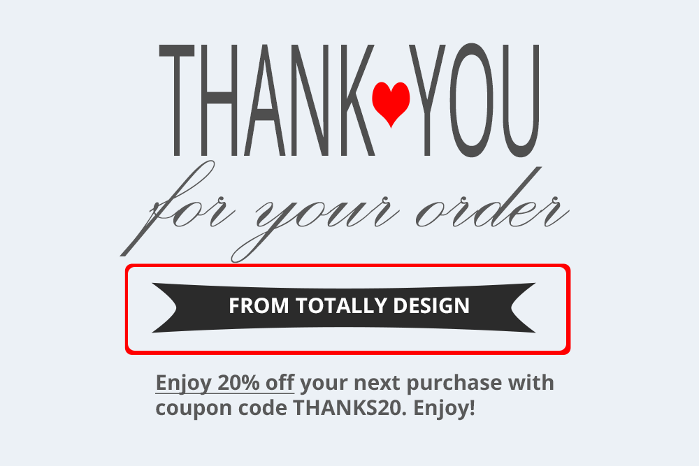 thank you for your order product insert template