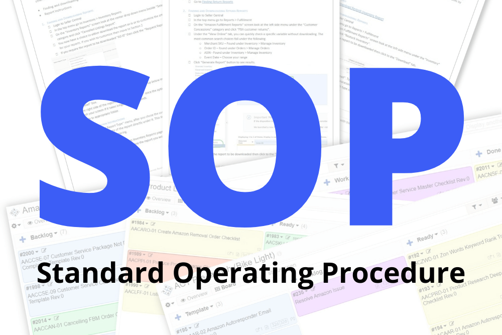 standard operating procedure - SOP