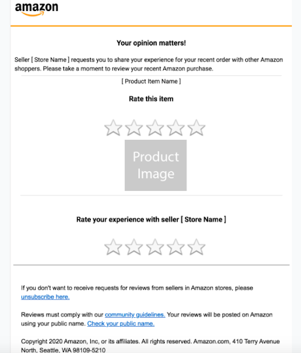 Amazon request a review email template