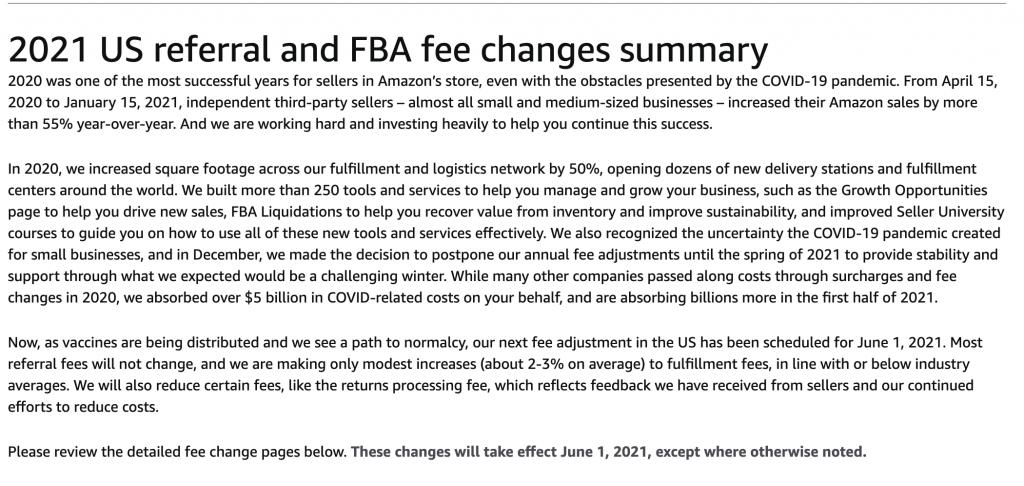 amazon seller fees increase
